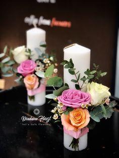 Wedding Cake Cookies, Wedding Cakes, Concrete Planters, Pillar Candles, Flower Power, Origami, Table Decorations, Wedding Ideas, Weddings