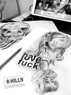 Personalizzare il Vostro Racconto e renderlo Indelebile... Work In Progress Arm Tattoo !  Ready For ink....... Black and White Tattoo !l #chicanostyle #chicano #tattoo #ink #art #ladyoktopustattooartist #bhillstattoocompany