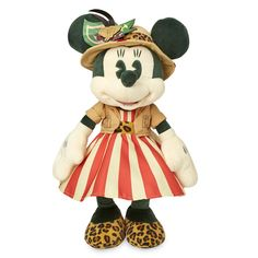 World explorer Minnie Mouse embarks on safari with this limited release premium plush. For The Main Attraction series, each release honors a different, beloved Disney Theme Park adventure. This month she tours the Jungle Cruise at Disneyland in travel gear inspired by the ride's iconic riverboats.