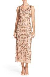 Pisarro Beaded Mesh A-Line Dress