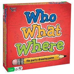 Who What Where? Drawing Game by University Games