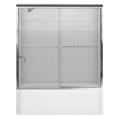 KOHLER Fluence 59-5/8 in. x 59-5/16 in. Frameless Bypass Shower Door in Bright Polished Silver-K-702200-L-SHP at The Home Depot