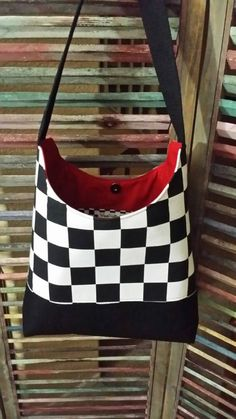 Checkered Racing Purse or tote by WiseCrafts94 on Etsy