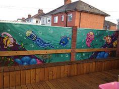 Garden fishtank graffiti