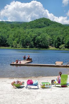Wildcat Lake in Banner Elk, a great swimming hole in the North Carolina mountains