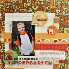 School Spirit Collection by Crate Paper - I really like this layout..I think I am going to use it in a layout