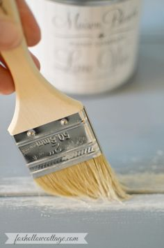 How to use Lime Wax for an aged finish! Maison Blanche Paint Company Lime Wax in Chalk White foxhollowcottage