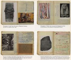 """these scans are from the book """"sheila hicks: weaving as metaphor"""" Artist Journal, Artist Sketchbook, Sketchbook Pages, Art Journal Pages, Art Journals, Moleskine, Sheila Hicks, Textiles, Art Textile"""