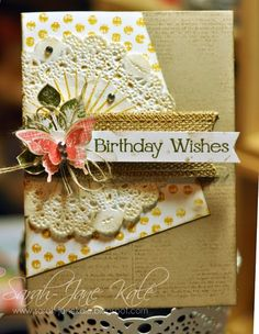 Stampin' Up! Kinda Eclectic, paper doilies, Janeybell: Sweet Sunday Sketch #244