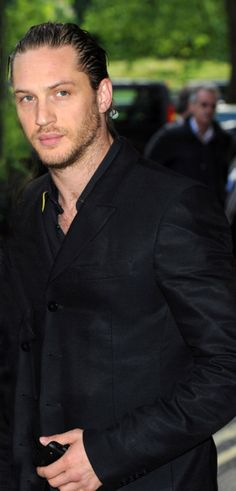 My fave look of Tom Hardy with hair slicked back. Less distraction on that beautiful face