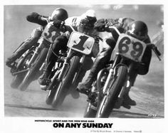 on any Sunday riding in a train. European Motorcycles, Racing Motorcycles, Vintage Motorcycles, Motocross Bikes, Vintage Motocross, Flat Track Motorcycle, Flat Track Racing, Motorcycle Posters, Motorcycle Girls