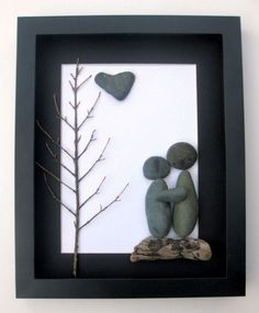 Unique Engagement Gift- Personalized Couple's Gift -  Pebble Art - Love Gifts on Etsy, $60.00 CAD: