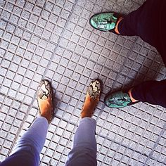 Victoria Baker Harber snake print slippers