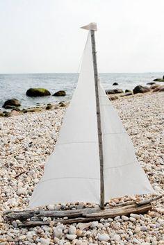 driftwood sailboat.
