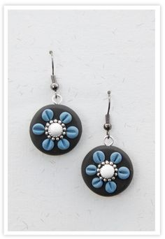 Polimer Clay earrings by http://quejojoyas.com
