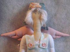 Tilda Doll mint Gardener Angel Fairy Godmother by Xena28 on Etsy, $38.00