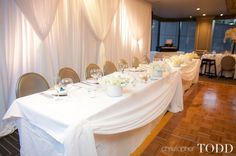 Head table for Center Club Wedding