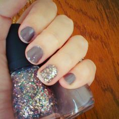 Fall color with a party nail #diy