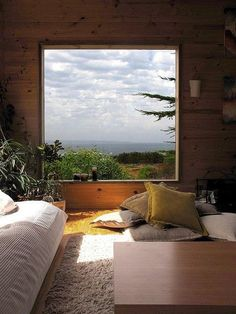 picture window architecture interior home house design bedroom style Style At Home, Interior Exterior, Interior Architecture, Cosy Interior, Design Interior, Interior Colors, Interior Ideas, Interior Inspiration, Interior Decorating