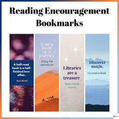 Reading Encouragement Bookmarks Volume 1 from A Plus Learning Good Books, Books To Read, Reading Bookmarks, Reading Corners, Dojo, Read More, Encouragement, Teacher, Student