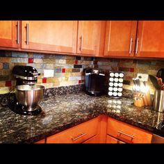 Schon Kitchen Backsplash  Custom Made With Red Glass Tile Inserts. So In Love  With My
