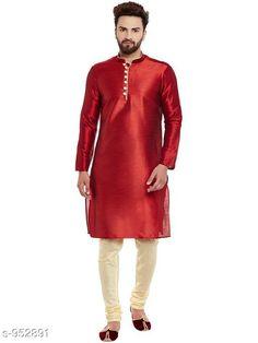 Kurta Sets Traditional Cotton Blend Men's Kurta Pyjama Set  *Fabric* Kurta- Cotton Blend, Pyjama- Cotton Blend  *Sleeves* Kurta- Full Sleeves Are Included  *Size* Kurta- S, M, L, XL, XXL (Refer Size Chart For Details), Pyjama- S- 28 in, M- 30 in, L- 32 in, XL- 34 in, XXL- 36 in         *Length* Kurta- Refer Size Chart, Pyjama - Up To 50 in  *Description* It Has 1 Piece Of Men's Kurta and 1 Piece Of Men's  Pyjama  *Pattern* Solid  *Sizes Available* S, M, L, XL, XXL *    Catalog Name: Men's Ethnic Fancy Kurta Pyjama Sets Vol 3 CatalogID_112579 C66-SC1201 Code: 626-952891-