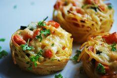 Vegetarische Spaghetti Muffins #ichbacksmir #partyrezept