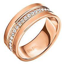 05d7bd0b2 Folli Follie Rose Gold Plated Ring Size Large - Product number 5000629 Ernest  Jones, Rose