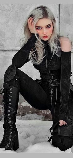 Gothic Outfits, Edgy Outfits, Grunge Outfits, Girl Outfits, Egirl Fashion, Gothic Fashion, Fashion Dresses, Fashion Design, Mode Emo