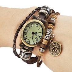 Reloj de las mujeres del análogo de cuarzo de cobre Cash Estilo de cuero pulsera de la venda (Brown Band) – EUR € 6.43