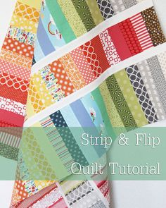 This fun scrappy quilt is quick to put together and great for beginners. Use lots of different colors to keep it bright and fun, or just a few colors to keep it calm and simple.