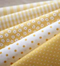 Yellow prints - stripes, dots, floral, gingham