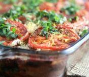 Vegan Rustic Bread, Eggplant & Spinach Lasagna