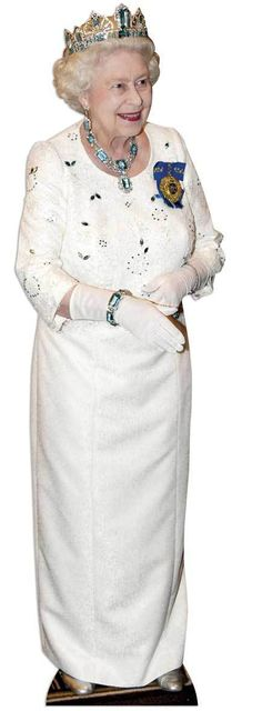 Star Cutouts, Queen Elizabeth Wearing Crown, Cardboard Cutout Standup, Royal Celebrity Life-Size Stand-In - x Queen 90th Birthday, Honeycomb Decorations, Hollywood Red Carpet, Star Wars, Crown Royal, Budget Fashion, Queen Elizabeth Ii, Decorative Accessories, Bon Voyage