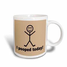 3dRose I pooped today, Ceramic Mug, 11-ounce