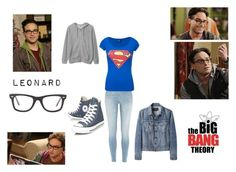 """""""Leonard Hofstadter"""" by emily-dickson-1 ❤ liked on Polyvore featuring moda, Theory, River Island, Proenza Schouler, Converse e Ray-Ban"""