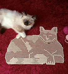 Free Filet Crochet Pretty Kitty Pattern