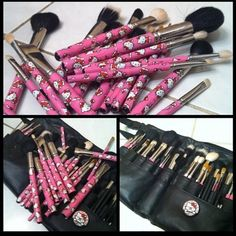 hello kitty make up brushes.