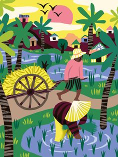 5 illustrations I made about Cambodia for Travesías Magazine