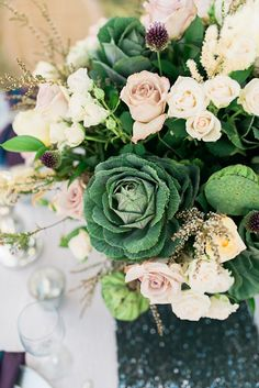 A green flower bouquet is now a must for brides because green is now the new white!