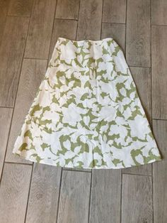 6dfb11750333c7 Hobbs Linen Green Skirt Size 16 Floral #fashion #clothing #shoes  #accessories #