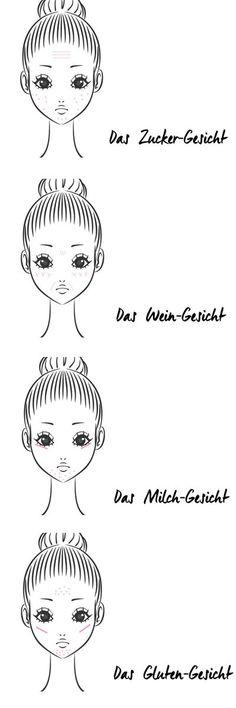 Gluten Face: What Your Pimples & Wrinkles . Gluten-Gesicht: Was deine Pickel & Falten WIRKLICH bedeuten Where your pimples and wrinkles REALLY come from! www. Beauty Tips For Skin, Diy Beauty, Beauty Skin, Beauty Secrets, Beauty Hacks, Beauty Trends, Face Skin Care, Diy Skin Care, Sin Gluten