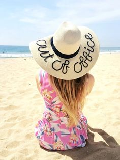 All you need is a straw hat, a string of sequins and a glue gun!