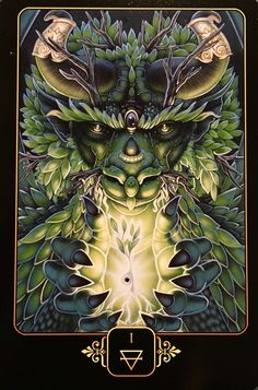 JANUARY 01/2017 Ace Of Earth, from the Dreams Of Gaia Oracle Card deck, by Ravynne Phelan