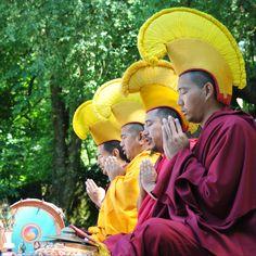 Monks in Prayer.  Tibet