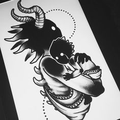 Toddler child baby parenthood mom dad crying darkhead tattoo design blackwork monster creature creepy dotwork