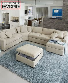 New Living Room Furniture Layout Sectional Ottomans Ideas Living Room Sofa Design, Living Room Furniture Layout, Living Room Sectional, Sofa Furniture, Living Room Designs, Fabric Sectional, Furniture Sets, Sectional Sofas, Macys Sectional