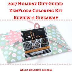 Enter to #win a #ZenFlora flower #coloring kit in our new #giveaway ! 5 winners.  #papercraft #giftideas #Christmas #giftguide