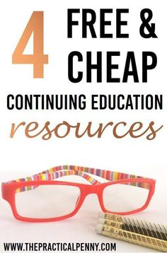 4 Continuing Education Resources: No College Degree Required | The Practical Penny | To keep up in the information age, you'll need to keep learning marketable skills. Here are 4 of the best continuing education resources (many are free!). #Learning #education