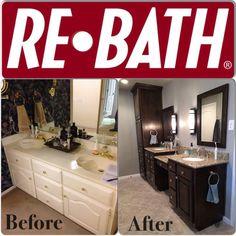 Custom cabinetry with custom granite full #remodel ReBath.com